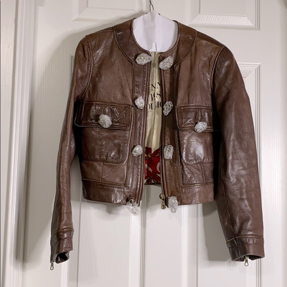 1988-1988 collection moschino leather jacket